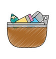school pencil case vector image