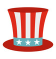 uncle sam hat icon isolated vector image
