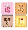 letters rstu candies vector image