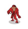 Red Werewolf Monster vector image