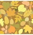 Tree leaves seamless pattern vector image