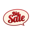 Sale icon  Speech bubble vector image vector image