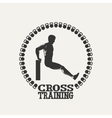 Cross Training man silhouet 2 logo vector image