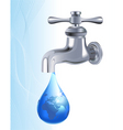 water tap vector image