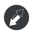 Monochrome round opposite arrows icon vector image