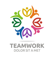 teamwork people human colorful design vector image