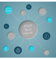 Infographic Text Circle With Links To Web Icons vector image