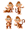 monkey many expressions vector image