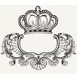 Crown Crest Composition vector image