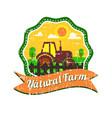 farm logos design with grunge texture vector image