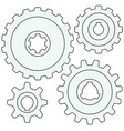 gear wheel set vector image