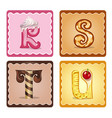 letters rstu candies vector image