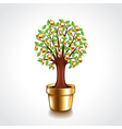 Money tree in a pot vector image