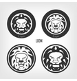 Set of lions vector image
