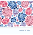 Summer flowers torn paper horizontal seamless vector image