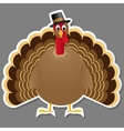 Thanksgiving turkey bird isolated on grey vector image