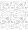 Hand drawn sea food seamless pattern vector image vector image