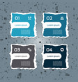 Modern torn paper for infographics vector image