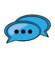 bubble speech communication talk vector image