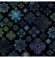 Seamless snowflake winter watercolor Christmas bac vector image
