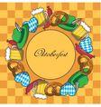 Oktoberfest frame vector image