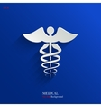 Caduceus Medical Symbol- Backgrond vector image