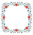 Folk Pattern Flowers-e vector image
