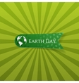 Earth Day realistic green textile Label vector image