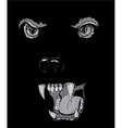 t-shirt design with raging panther vector image vector image