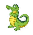 Cartoon alligator vector image