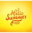 Phrase Hello Summer typography inscription vector image