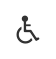 Pictogram of Disabled in Wheelchair vector image