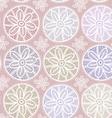 Seamless pattern Vintage lace design Pastel purple vector image