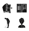 study bank preaching and other web icon in black vector image