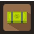 Dollar banknotes bills icon flat style vector image
