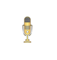 music microphone computer symbol vector image