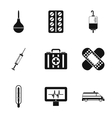 Treatment icons set simple style vector image vector image
