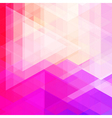 Abstract neon colorful triangle pattern background vector image vector image