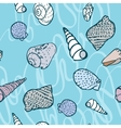 seamless pattern with colorful sea creatures vector image