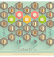 Cover of Coffee Menu vector image vector image