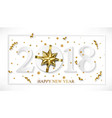 2018 happy new year white background with vector image