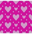 knitted seamless pattern hearts vector image