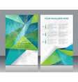Brochure or Flyer design with abstract geometrical vector image vector image