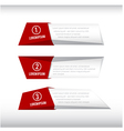 3D box banner red and grey 002 vector image