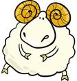 Cartoon of aries zodiac sign vector image