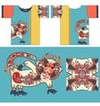 t-shirt design with unique decorative fantasy vector image vector image