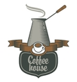 coffee houses and coffee pots vector image