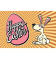 Easter Bunny with the lettering happy easter vector image