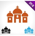 Set color icon Church vector image