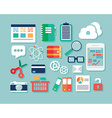 Collection of flat design icons computer and vector image